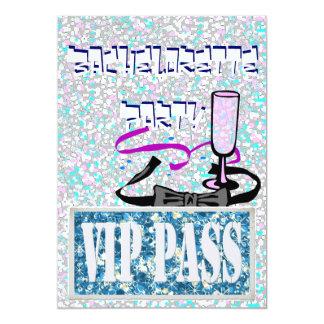 Bachelorette blue vip party invitation