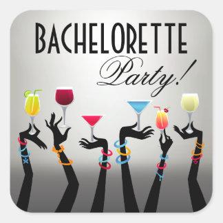 Bachelorette Cocktail Party Square Sticker