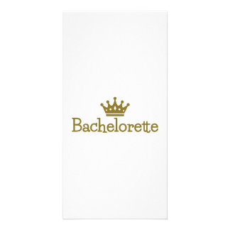 Bachelorette crown personalized photo card