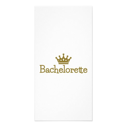 Bachelorette crown personalized photo card
