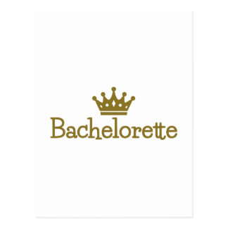 Bachelorette crown postcard