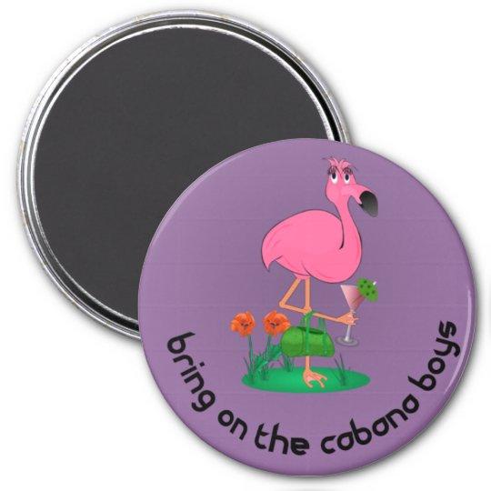 Bachelorette/Flamingo Magnet