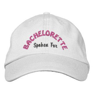 Bachelorette funny spoken for embroidered baseball caps