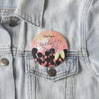 Bachelorette Girls Night Out - Coral 7.5 Cm Round Badge