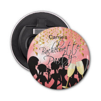Bachelorette Girls Night Out - Coral Bottle Opener