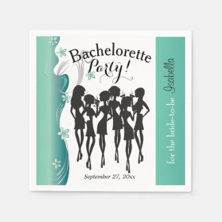 Bachelorette Girl's Party -  Jade Disposable Napkin