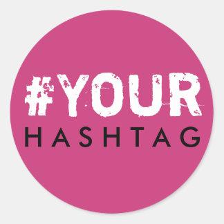 Bachelorette Hashtag Pink Black White Sticker