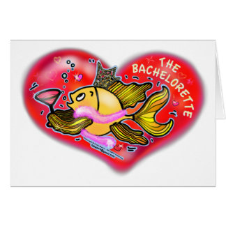 Bachelorette  Hen Party Fish Greeting Card