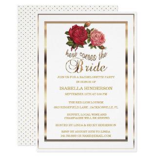 Bachelorette - Here Comes the Bride - Rose Card
