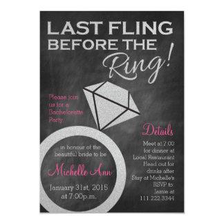 Bachelorette Invite- Last Fling Before the Ring Card