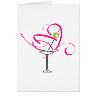 Bachelorette Martini Glass Card