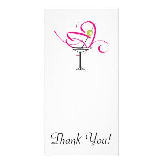 Bachelorette Martini Glass Custom Photo Card