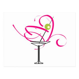 Bachelorette Martini Glass Postcard