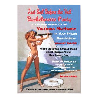 Bachelorette Nautical Weekend Getaway Invitations
