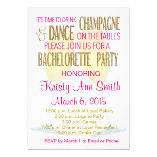 Bachelorette or Hens Party Invitation