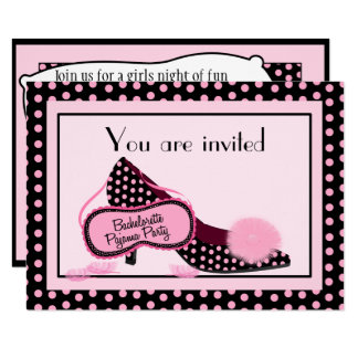 Bachelorette Pajama Party Invitation