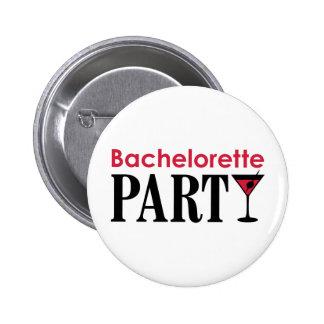 Bachelorette party 6 cm round badge
