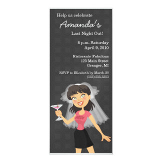 Bachelorette Party Bride Cartoon Invitations