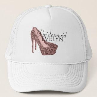 Bachelorette Party Bridesmaid | Glitter High Heels Trucker Hat