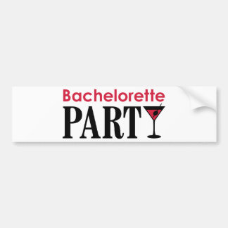 Bachelorette party bumper sticker