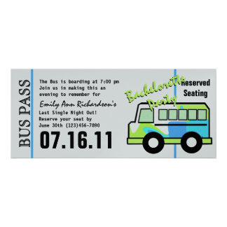 Bachelorette Party Bus Pass Announcement