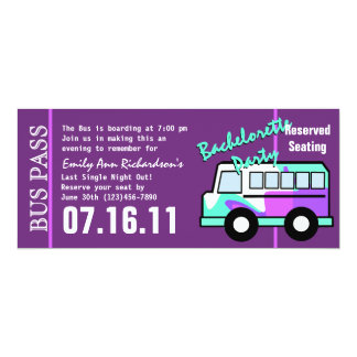 Bachelorette Party Bus Pass Card