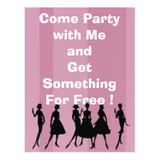 bachelorette party, Come Party with MeandGet So... Postcard