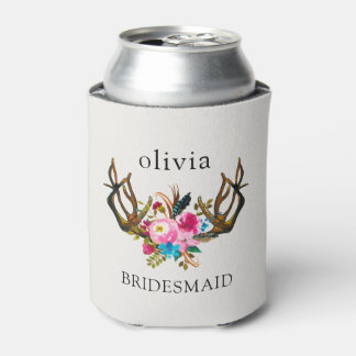 Bachelorette Party Coozie Can Cooler Rustic