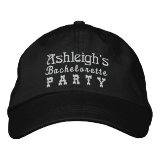 BACHELORETTE PARTY Custom Name BLACK B4 Baseball Cap