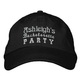 BACHELORETTE PARTY Custom Name BLACK B4 Baseball Cap