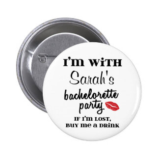 Bachelorette Party Customized Drink Button