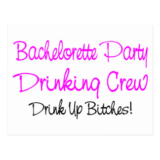 Bachelorette Party Drinking Crew Postcard