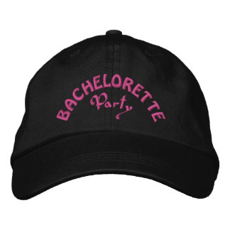 Bachelorette party embroidered hats