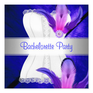 Bachelorette Party Feather Blue Card
