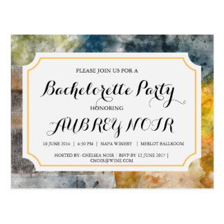Bachelorette Party for Vineyard or Winery Wedding Postcard