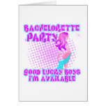 Bachelorette Party Good Lucky Boys Greeting Card
