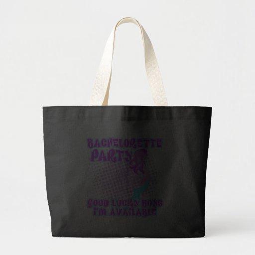 Bachelorette Party Good Lucky Boys Jumbo Tote Bag
