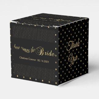 Bachelorette Party - Here Comes The Bride - Black Favour Box