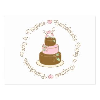 Bachelorette Party in Progress Wedding Tee Gifts Postcard