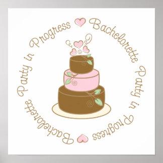 Bachelorette Party in Progress Wedding Tee Gifts Print