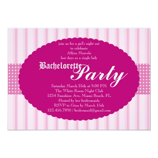 Bachelorette Party Invitation