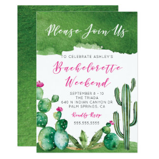 Bachelorette Party Invitation - Palm Springs