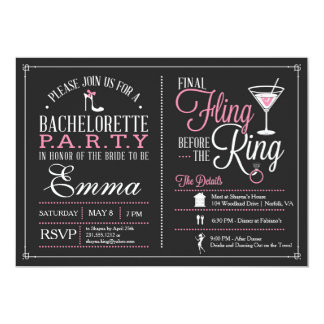 Bachelorette Party Invitation with Itinerary