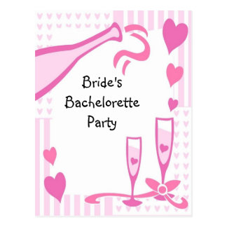 Bachelorette Party Invite Postcard
