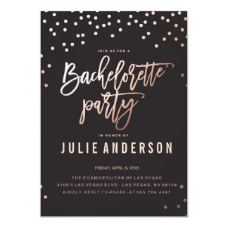 BACHELORETTE Party ITINERARY // BLACK invitation