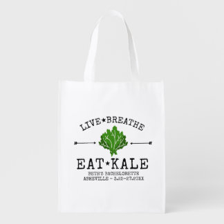 Bachelorette Party Kale Vegetarian Foodie Custom Reusable Grocery Bag