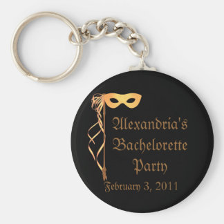 """Bachelorette Party"" - Masquerade Theme Key Ring"