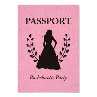 bachelorette party passport 9 cm x 13 cm invitation card