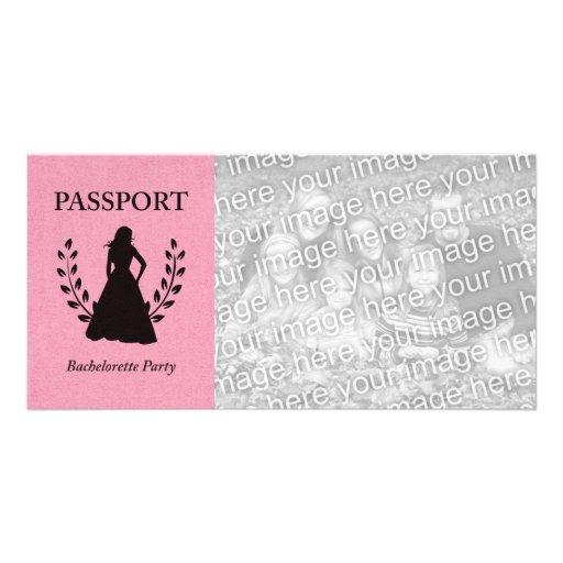 bachelorette party passport customized photo card