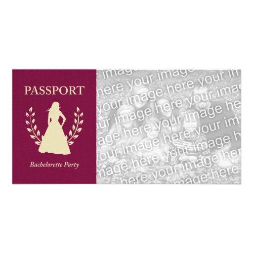 bachelorette party passport photo cards